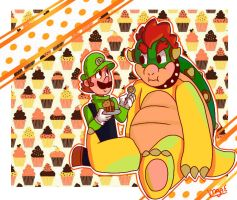 Luigi and Bowser by mariogamesandenemies