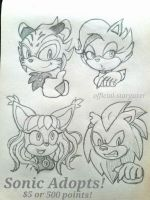 Sonic Adopts Set 2 OPEN by Official-Stargazer