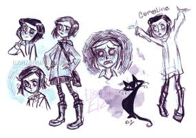 Coraline sketch by ElisEiZ