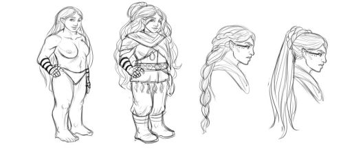 Concept art: Dwarf, female by iara-art