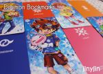 Digimon Bookmarks (Prism double sided color) by jinyjin