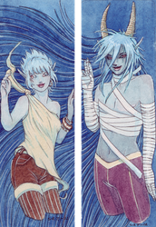 Blue Bookmarks - Commission by Truthdel