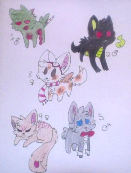 CHEAP DOODLE ADOPTS :2/5: by wightravenadoptables