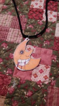 Soul Eater Moon Necklace by MaiShark
