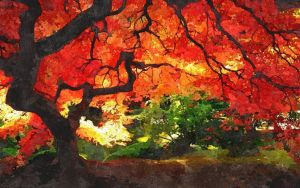 Red Tree by Invisiblerebel