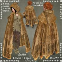 Leather Cloaks in BROWN by Elvina-Ewing