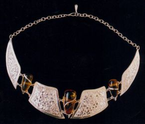 amber in silver by dunadair