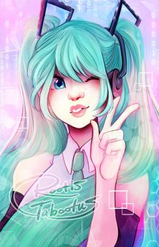 Happy Anniversary/Birthday to Hatsune Miku by RootisTabootus