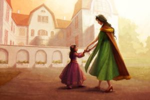 The Silver Eye-Queen and Princess Dancing Practice by LauraHollingsworth