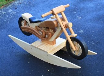 Wooden Rocking chopper by StevesWoodenToys
