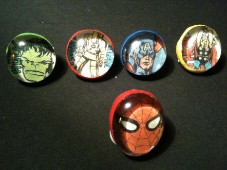 Superhero magnets by WhispMI21