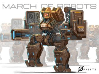 March of Robots no.1 by Loone-Wolf