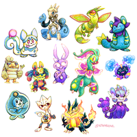 a big ol bunch of pokemon fusions