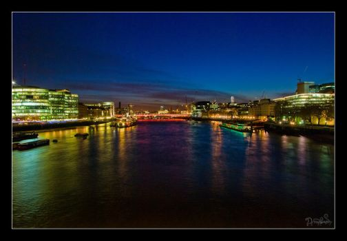 Thames in Neon by DreamSand