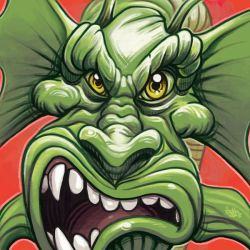 Daily Sketches Fin Fang Foom by fedde