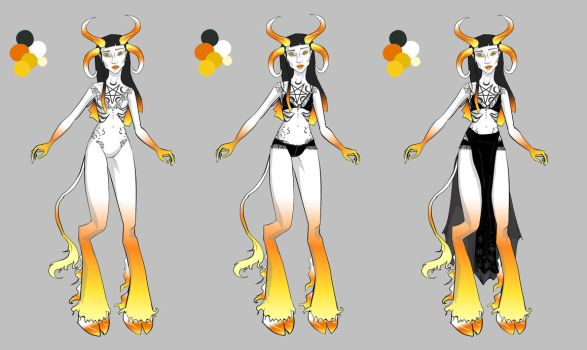 Cicilia the Candy corn Faun by WintersKnight
