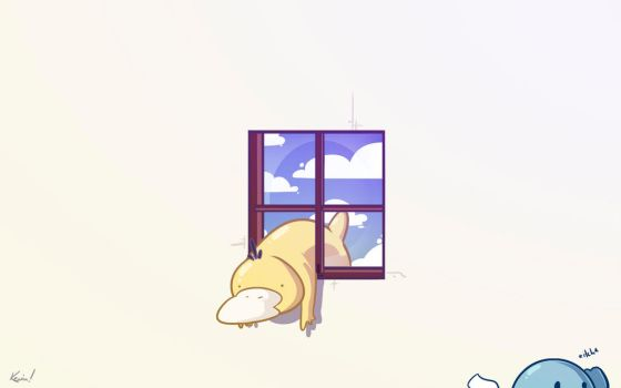 Psyduck In The Window - wallpaper by SHIBUYA401