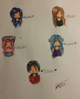 ItsFunneh Gang Chibis by Suki-Angel