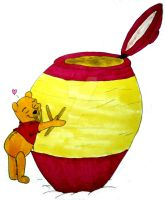 Honey Pot Pooh by InkArtWriter