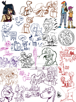 Livestream sketch dump #9 by TheArtrix
