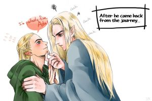 [Thranduil / legolas] Came back from the journey by Gratchiyo
