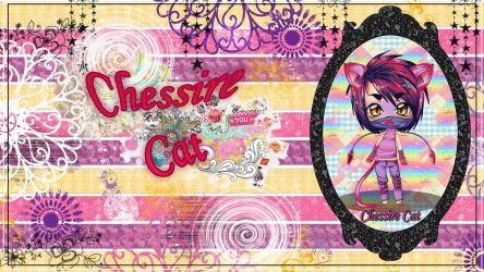 Chessire Cat wallpaper by StrawberryCakeBunny