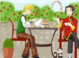 Tea for Two by angelofyouth