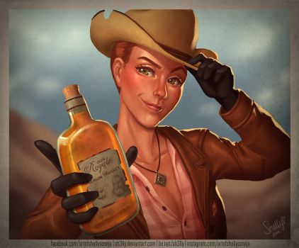 Whiskey Rose by Sh3lly