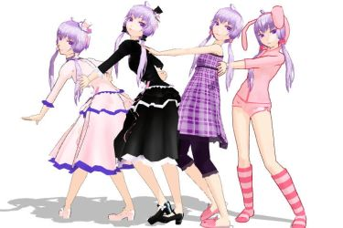 Yukari with various dresses by atohen