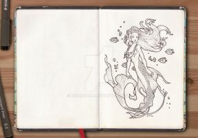 Sketchbook series - Mermaid by barbaramj