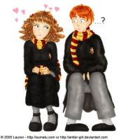 Ron and Hermione by antler-girl
