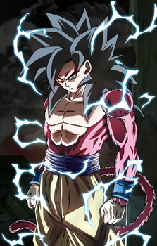 The power of an Ozaru. Goku SSJ4 by Koku78