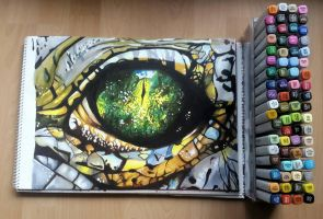 Reptile Eye || Copic Markers by Che-Nupet