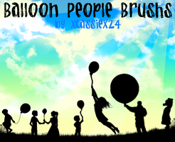 Balloon People Brushes by xCassiex24