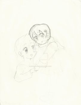 (Unfinished) Kid Haru and Tamaki by forevervirgin