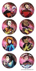 Star Trek: The Next Generation - Button Set by killlertune