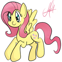 Fluttershy by waffle-cake