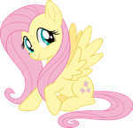 Mlp Fim New Fluttershy (happy) vector by luckreza8