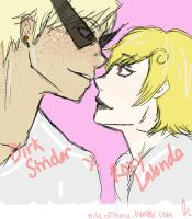 Dirk Strider and Roxy Lalonde by Aerotyl