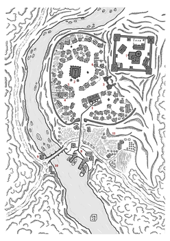 Parfondeval (fantasy city map) by Etory