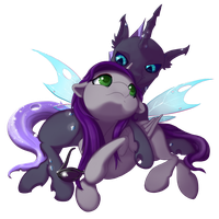 Phobos and Friend - for Phobos-Ilungian by aHorseForEverySeason