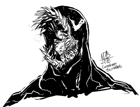 Venom Forming Sketch by ConstantScribbles
