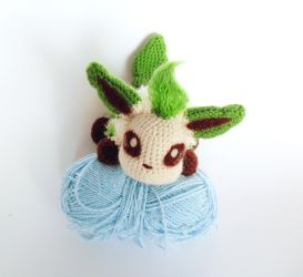 Leafeon amigurumi by Jequila