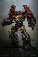 War for cybertron Demolisher by tritie