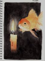 Candle And Fish by MadameCat-Art