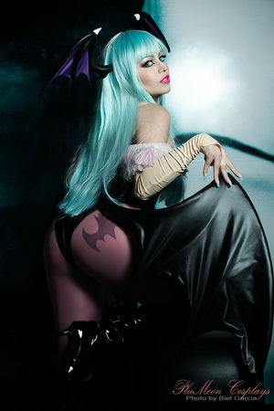 Morrigan Aensland Cosplay ::: PluMoon by plu-moon