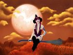 Under The Harvest Moon by VisualPoetress