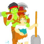 Orc and Dwarf halfling by AuraLeighDragon