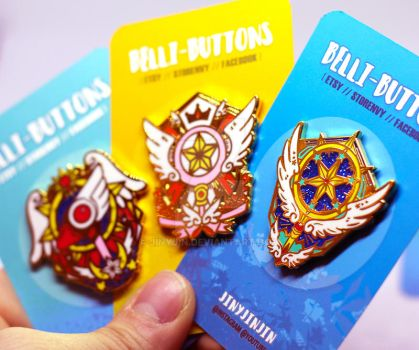 Card Captor Sakura Wand Enamel Pin collection by jinyjin