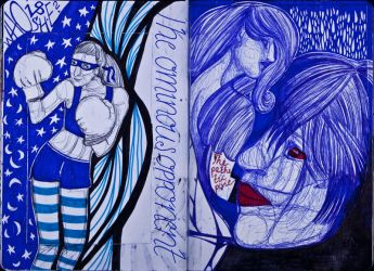 The Sketchbook Project 2013 - O and P by Nakilicious